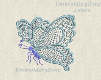 Dragon Geraldic Richelieu Cutwork Embroidery Design Machine
