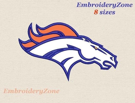 logo denver broncos embroidery design applique by