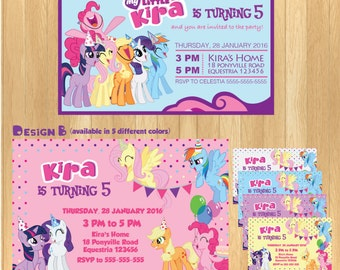 CUSTOMIZED - My Little Pony Invitation