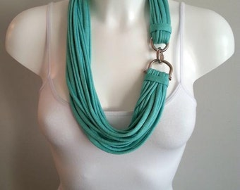 T-shirt necklace, fabric necklace