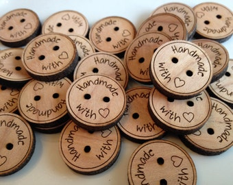 Custom button, design,  personalized, wood button, engraved button, button, knitting button, craft button, handmade with love