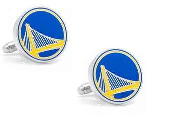 Golden State Warriors Cufflinks Cuff Links Best man Groomsmen Wedding Gift Father's Day Graduation Dad Birthday Basketball