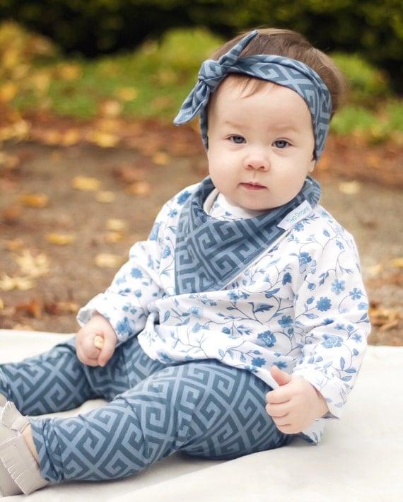 Dusty Blue Baby Leggings Toddler Leggings Girl Leggings Boy Leggings Unisex leggings Blue Geometric Leggings Winter Toddler Leggings