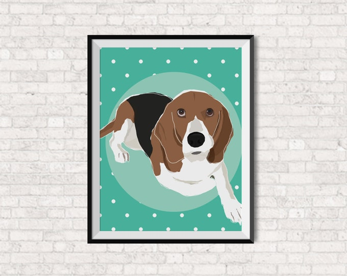 Modern Custom Pet Portrait - Vector Pop Art - Dog Portrait - Cat Portrait