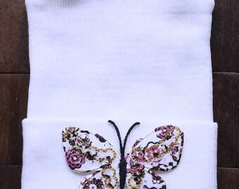 Newborn Butterfly Hat - Newborn Hospital Hat - Hospital Hat - Butterfly Hat - Newborn Baby Hat - Whimsical Hat - Butterfly Beanie - Newborn