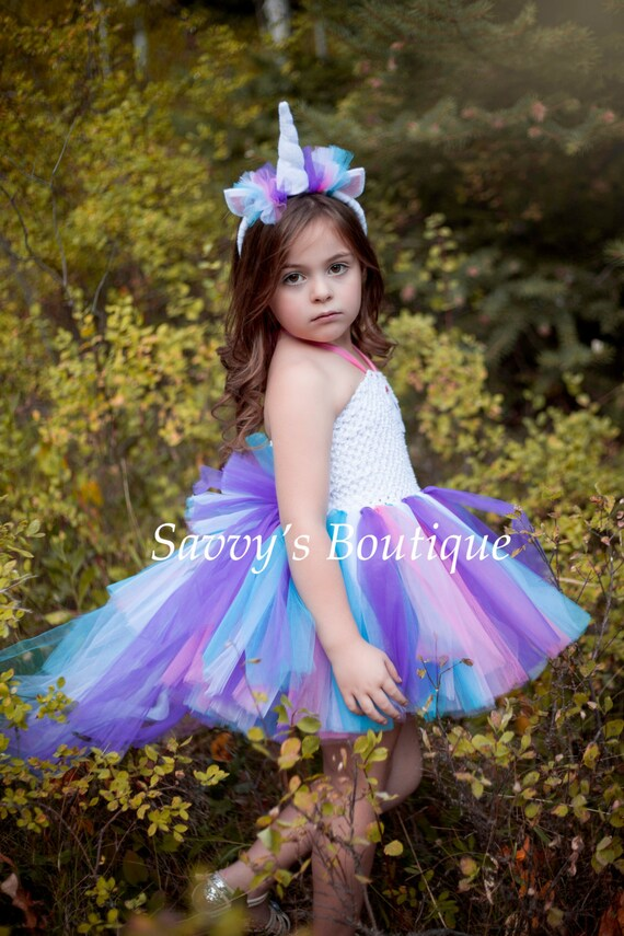 Unicorn tutu dress unicorn costume party dress halloween for Diy party dress