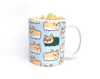 Corgi Loaf Mug | Corgi Mug | Cute Mug | Welsh Corgi Mug | Gift for corgi lover | Dog Mug | Hipster Mug |Christmas Gifts for her |Puppy Mug