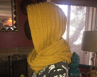 Crochet Ribbed Scoodie