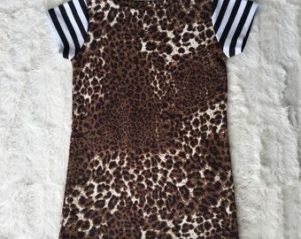 T-shirt dress // cheetah dress// leopard dress