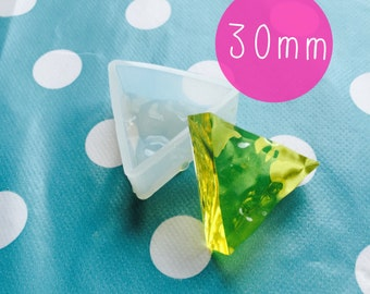 Silicone Triangle Mold Water Ripple Effect Piece 30mm Resin Mould Jewellery Making