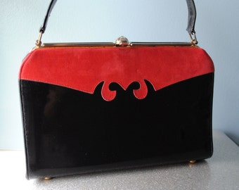 Vintage 50's Patent Leather Handbag