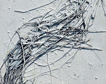 "50% oFF Original textured abstract mixed media painting suitable for a modern interior.-Title""Frost""-Size 40x120x4cm"