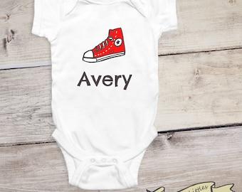 Cute Sneaker Baby Onesie®, Custom Shirt for Babies, Personalized Onesies® for Newborn