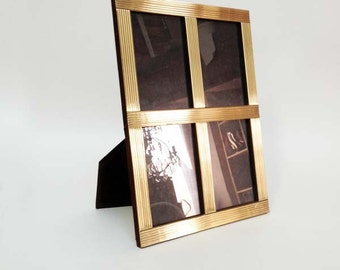 French Vintage Brass Photo Frame for 4 Pictures