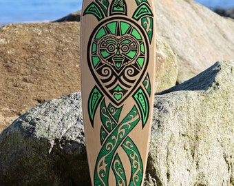 "SP8BOARDS ""Pintail"" - classic longboard deck with a turtle design, no kicktails and a deep concave, ideal for carving, cruising and downhill"
