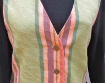 Vintage carol antone petite  SILK BACK With Tie  Size Medium