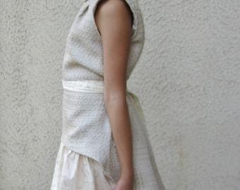The frock coat dress / jumper / Cavalier princess dress / girl wedding dress / gown girl / asymmetric dress / tunic dress