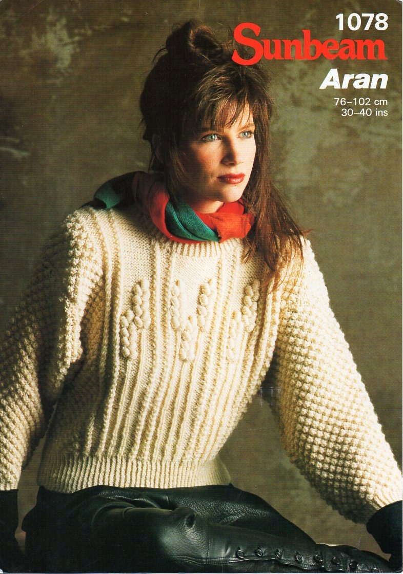 Ladies aran sweater knitting pattern pdf download womens aran ladies aran sweater knitting pattern pdf download womens aran sweater arn jumper wheatfield design 30 40 aran worsted 10 ply bankloansurffo Gallery