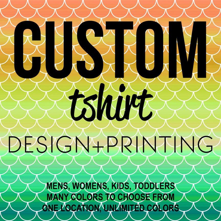 CUSTOM T-Shirt T Shirt Tee Clothing Apparel Design Printing Business Non-Profit Organization
