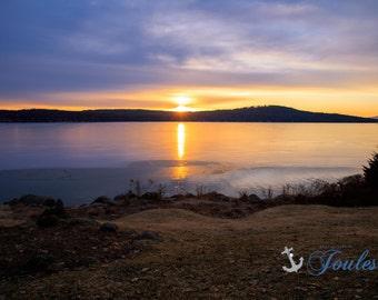 Meredith Bay ~ Lake Winnipesaukee, Meredith, New Hampshire, Church Landing, Lake Photography, Sunrise, Winter, Wall Decor, Joules, Artwork