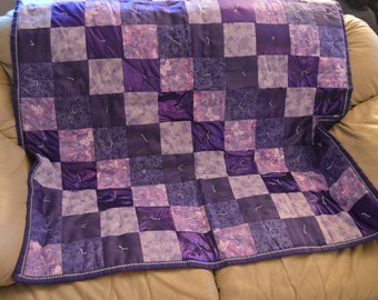Sale!! Purple Childrens Quilt/ Purple Baby Quilt/ Purple Nursery Decor
