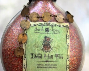 Dried Hell Fire Potion Bottle