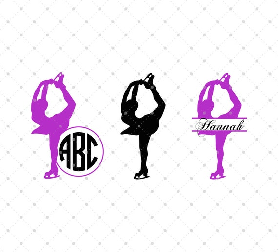 Figure Skating Svg Ice Skating Svg Cut Files For Silhouette