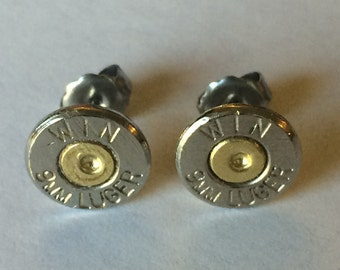 Bullet Earrings Crystal Swarovski Birthstone with BOX! 14 Colors to Choose From!
