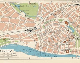 Arnhem map Etsy