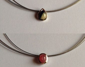 Necklace with Ruby or Sapphire.
