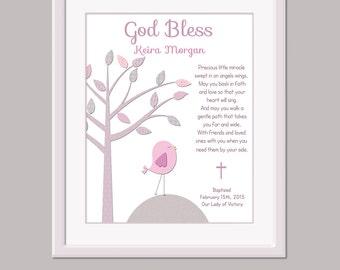 Baby Girl Baptism Gift - Baby Christening Gift - Baptism Keepsake - Unique Baptism Gift - Baby Dedication Gift - Christening Card -