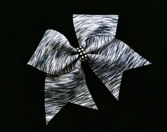 Black and gray cheer bow, Cheer bow, cheer bows, cheerleading bow, dance bow, cheerleader bow, soft ball bow, dance bow, large hair bow, bow