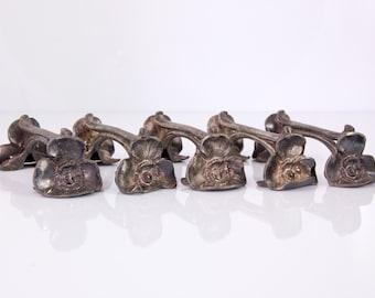 Art Nouveau poppy knife rests - set of five - Belle epoche - Gallia