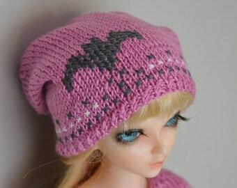 Handmade knitted hat for BJD MSD.