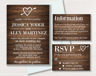 Rustic Wedding Invitation - (2)