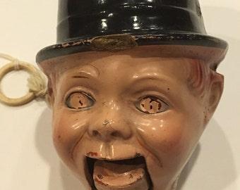 Antique Charlie McCarthy Ventriloquist Doll Head