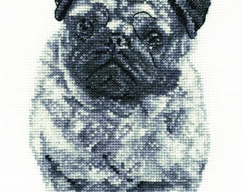 DMC BK1696 Pug Cross Stitch Kit from the Dogs Collection