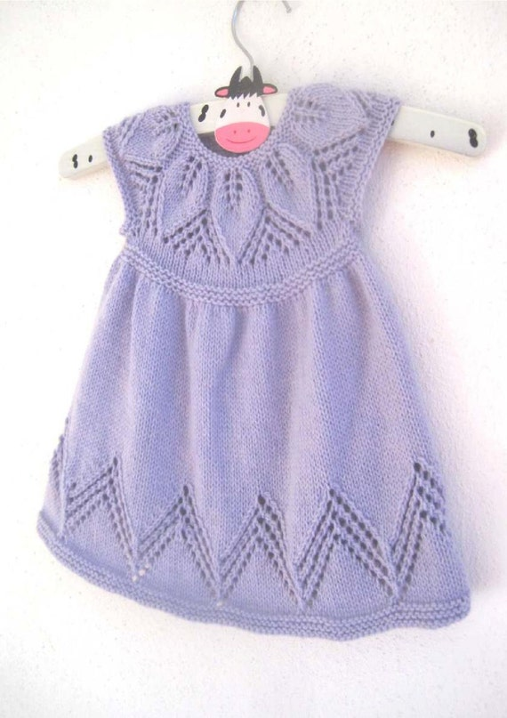 Bella Dress - Knitting Pattern - Baby girl to age 6 - Instant Download PDF fr...