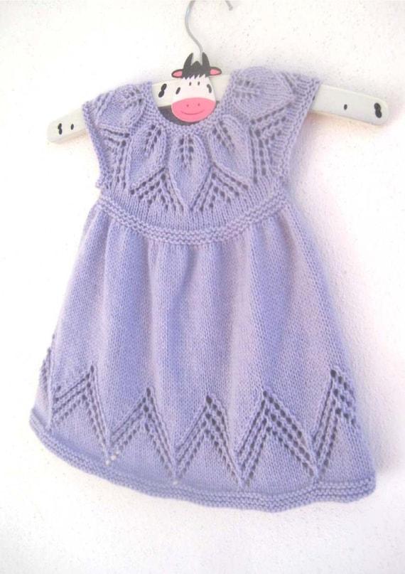 Bella Baby Knitting Patterns : Bella Dress - Knitting Pattern - Baby girl to age 6 - Instant Download PDF fr...