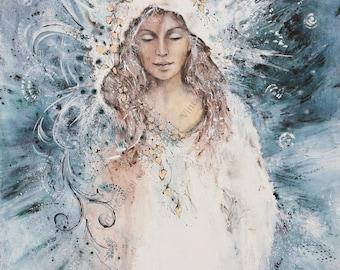 "Picture of the Madonna ""Believe"" - 20x26cm fine art print, art print, Giclée"