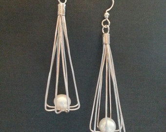 Pearl Cage Earrings