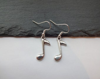 Music Note Earrings, Charm Earrings, Music Gift, Musical Gift