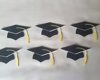 Set of 6 Paper Die Cut Graduation Caps, Graduation High School, College, Congratulations, Celebrate, Graduate
