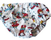 Baby Bloomers - 1 pair of bloomers - Nappy or Diaper Cover. Handmade. Size 12-24 months. Retro Space print. Busy Work.