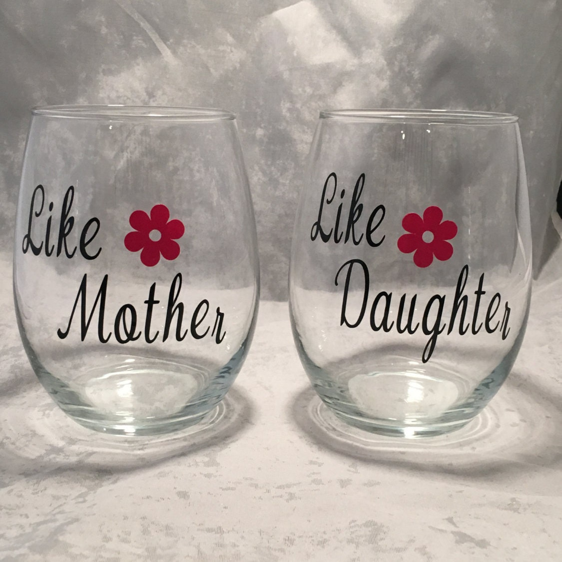 Mother Daughter Wine Glass Set Like Mother Like-5583