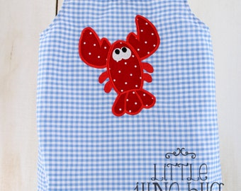 Summer Baby Bubble Romper, Lobster Baby Bubble Romper, Nautical Baby Bubble Romper,Baby Boy Bubble
