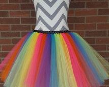 Rainbow Tutu Dress, Clown Tutu for Girls, Birthday Party Tutu, Carnival Tutu, Costume Tutu, First Birthday Dress,Toddler Tutu,Birthday Party