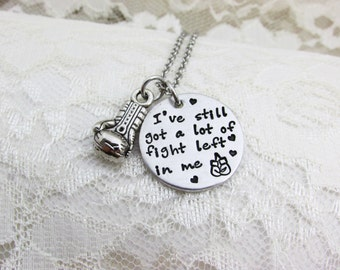 This is my Fight Song,I've still got a lot of fight left in me,Rachel Platten Fight Song,Survivor Necklace,Inspirational,Fight like a Girl