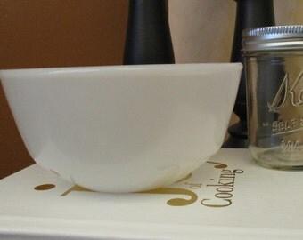 Milk Glass, Kitchen Decor, Vintage Fire King Bowl