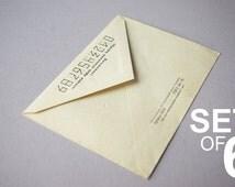 Soviet Vintage Envelope/Set of 6 Envelopes/Postal Envelope Made in USSR/1970's/Six Pack/Unsigned Russian Envelope/Paper Ephemera/Unstamped